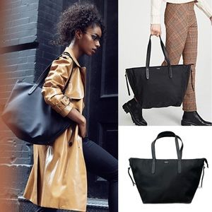 BOTKIER BLACK NYLON CARRY-ALL TOTE